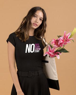 Shop No Guts Glory Half Sleeve T-Shirts Black-Front