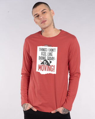 Shop No Moving Full Sleeve T-Shirt-Front
