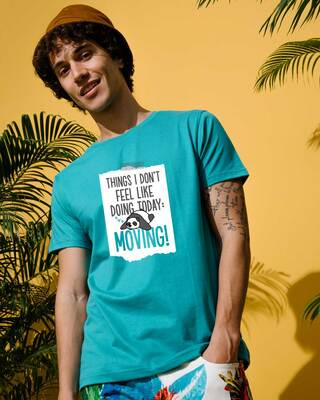 Shop No Moving Half Sleeve T-Shirt-Front