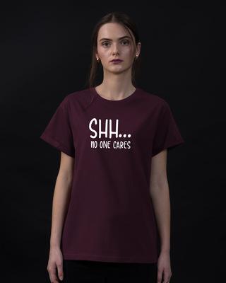 Shop No One Cares Boyfriend T-Shirt-Front