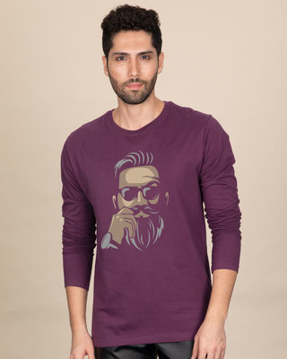 Shop No Shave Beard Full Sleeve T-Shirt-Front