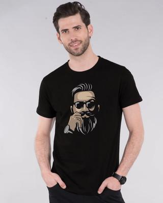 Shop No Shave Beard Half Sleeve T-Shirt-Front