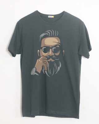 Shop No Shave Beard Half Sleeve T-Shirt-Front