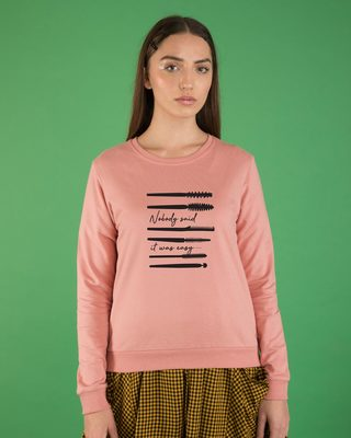 Shop Nobody Said It Was Easy Fleece Sweater-Front