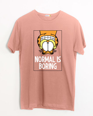 Shop Not A Normal Cat Half Sleeve T-Shirt (GL)-Front
