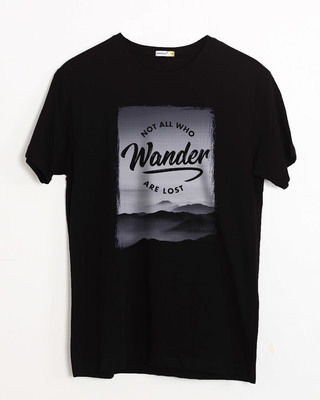 Shop Not All Who Wander Half Sleeve T-Shirt-Front