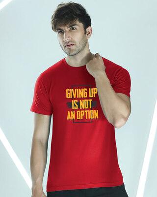 Shop Not an Option Half Sleeve T-Shirt-Front