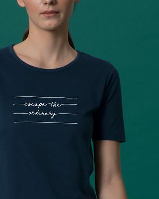Shop Not Ordinary Basic Round Hem T-Shirt-Front