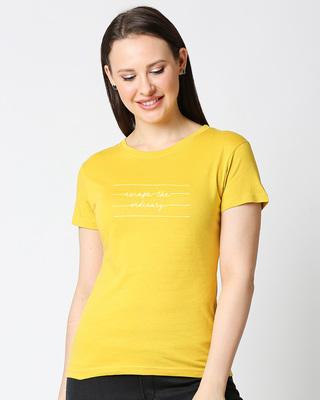 Shop Not ordinary Half Sleeve Printed T-shirt-Front