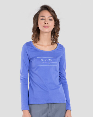 Shop Not Ordinary Scoop Neck Full Sleeve T-Shirt-Front