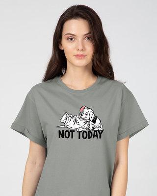 Shop Not Today Dalmations Boyfriend T-Shirt (DL)-Front