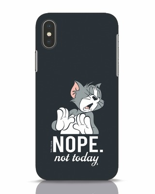 Shop Not Today Tom iPhone X Mobile Cover (TJL)-Front