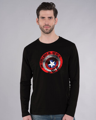 Shop Not Us Shield Full Sleeve T-Shirt (AVEGL)-Front