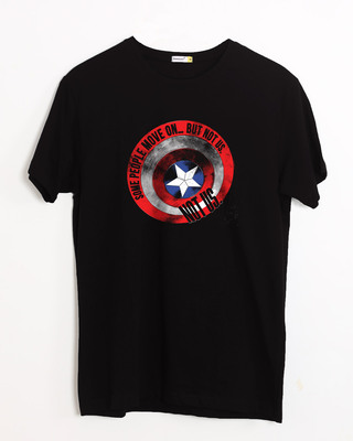 Shop Not Us Shield Half Sleeve T-Shirt (AVEGL)-Front