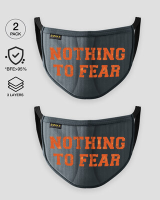 Shop Nothing to Fear Everyday Printed Fasion Mask 2.0 Single-Front