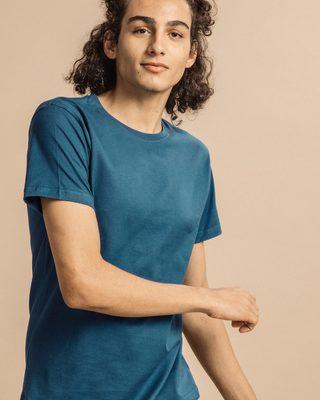 Shop Ocean Blue Half Sleeve T-Shirt-Front
