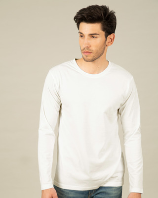 Shop Off White Full Sleeve T-Shirt-Front