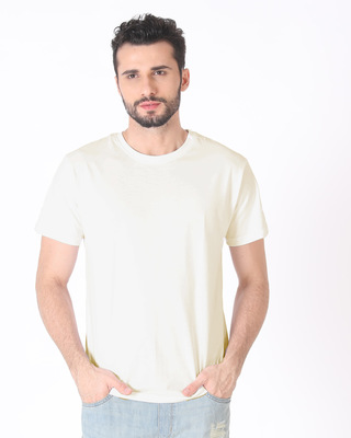 Shop Off White Half Sleeve T-Shirt-Front