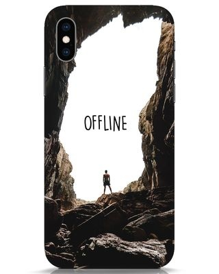 Shop Offline iPhone XS Mobile Cover-Front