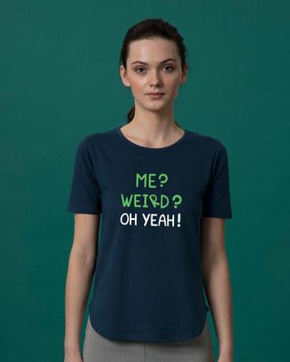 Shop Oh Yeah Basic Round Hem T-Shirt-Front