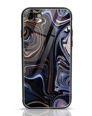 Shop Oil Paint Marable iPhone 7 Glass Mobile Cover-Front