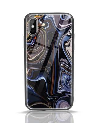 Shop Oil Paint Marable iPhone X Glass Mobile Cover-Front