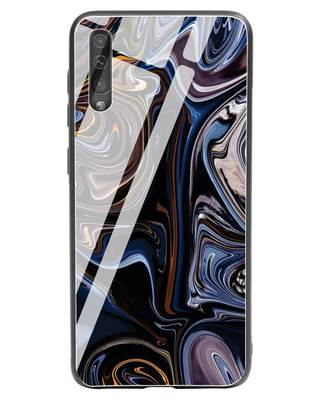 Shop Oil Paint Marable Samsung Galaxy A50 Glass Mobile Cover-Front
