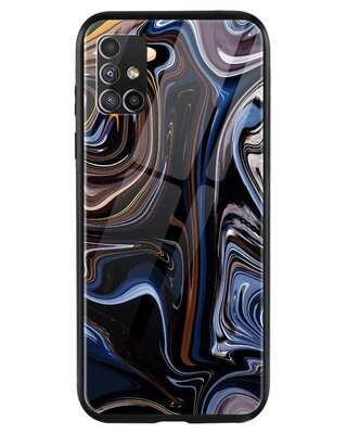 Shop Oil Paint Marable Samsung Galaxy M51 Mobile Cover-Front