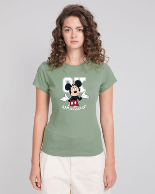 Shop Ok Whatever Half Sleeve T-Shirt (DL) Laurel Green-Front