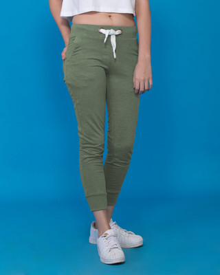 f95cd18c58e Buy Pine Green Women s Cropped Fleece Pants Online India - Bewakoof.com