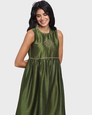 Shop Women's Sleevelesss Ethnic Kurti-Front