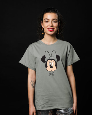 Shop Omg Minnie Boyfriend T-Shirt (DL)-Front