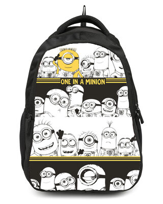 Shop One in a Million Minion Printed 23 Litre Backpack-Front