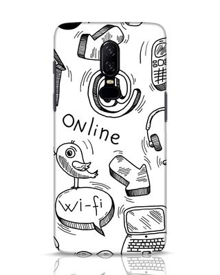 Shop Online Doodle OnePlus 6 Mobile Cover-Front