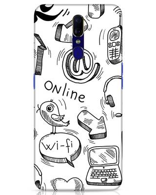 Shop Online Doodle Oppo F11 Mobile Cover-Front