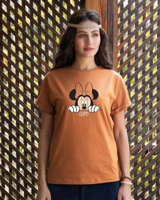 Shop Oops Minne Boyfriend T-Shirt (DL)-Front