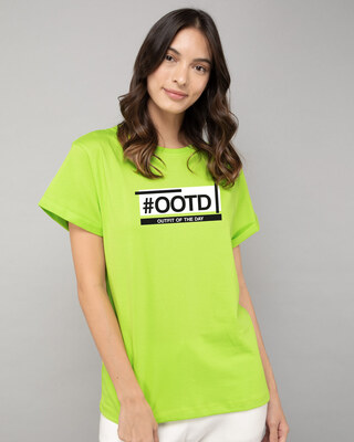 Shop Ootd Boyfriend T-Shirt-Front