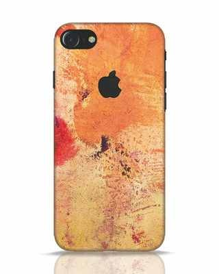 Shop Orange Red Rust iPhone 7 Logo Cut Mobile Cover-Front