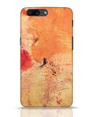 Shop Orange Red Rust OnePlus 5 Mobile Cover-Front