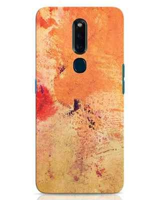 Shop Orange Red Rust Oppo F11 Pro Mobile Cover-Front