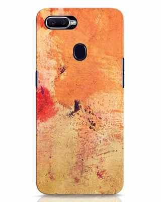 Shop Orange Red Rust Oppo F9 Pro Mobile Cover-Front