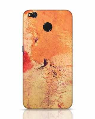 Shop Orange Red Rust Xiaomi Redmi 4 Mobile Cover-Front
