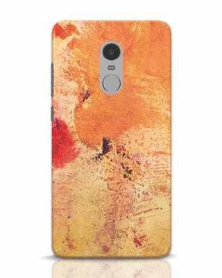 Shop Orange Red Rust Xiaomi Redmi Note 4 Mobile Cover-Front