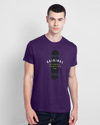 Shop Original Street Fashion Half Sleeve T-Shirt Parachute Purple-Front