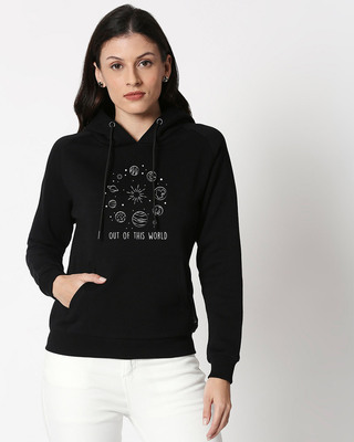 Shop Out Of The World Sweatshirt Hoodie Black-Front