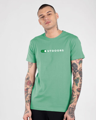 Shop Outdoors ON Half Sleeve T-Shirt Jade Green -Front