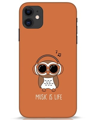 Shop Owl Headphones iPhone 11 Mobile Cover-Front