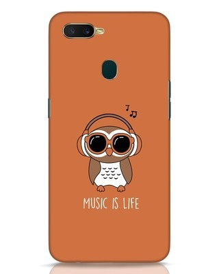 Shop Owl Headphones Oppo A7 Mobile Cover-Front