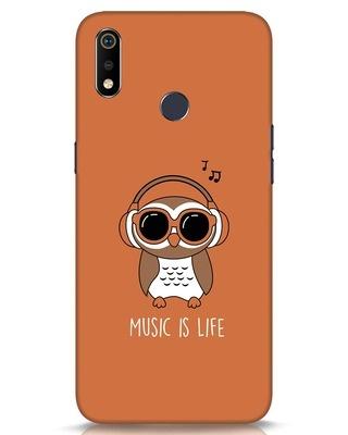 Shop Owl Headphones Realme 3i Mobile Cover-Front