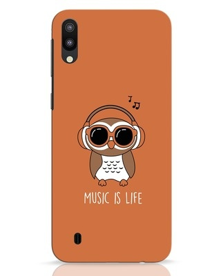 Shop Owl Headphones Samsung Galaxy M10 Mobile Cover-Front